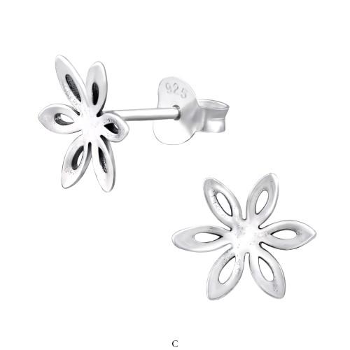 c2329434b75 Blomst - Simple ørestikker Sølv CH32200