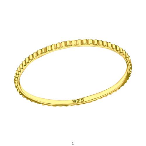 480f0c7e7dc3 Mönstrad - Enkla ringar Silver CH27893